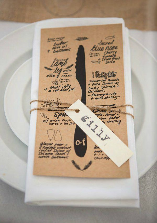 Un menu de mariage original id es impression menu de mariage for Idee menu original